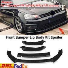 For Volkswagen Golf MK7 MK7.5 GTI R 14-19 Carbon Fiber Front Bumper Lip Spoiler