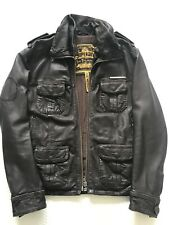 Superdry Mens Brad Leather Jacket (Medium)