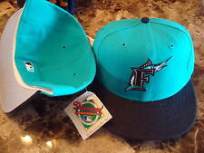 FLORIDA MARLINS HAT new era  CAP VINTAGE FITTED SIZE  7 1/2 neweraa WOOL