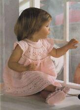 Crochet Pattern Baby Pretty Dress Girls & Shoes