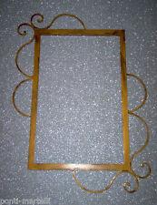 CORNICE DESIGN per Specchio o Foto FERRO BATTUTO cm 86 x 72 . SCONTO 25% . 845