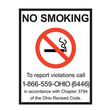Set of 4 Ohio Labor Law and No Smoking Posters - Made by ComplyRight