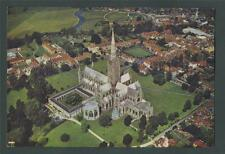 Salisbury Cathedral from the Air. South-East    postcard. ab1