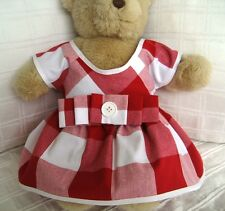 Teddy Bear Clothes, Handmade Nancy Cotton Dress