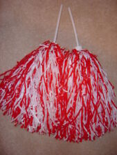 Pair of Rooter Pom Poms *Wisconsin Colors-Red & White*