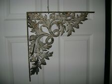 Vintage Cast Iron Architectural Salvage Ornate Garden Oak Corner Bracket