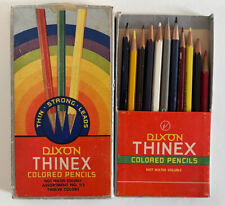 Vintage Dixon THINEX COLORED PENCILS Faber Castell COLORAY Eagle VERITHIN Lot 12