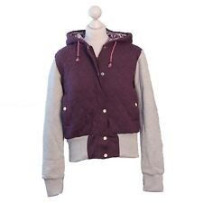 Mambo Goddess Fully Lined Quilted Hoodie, Size 10, Purple and Grey