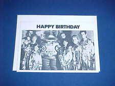 VINTAGE LOST IN SPACE ROBOT CLASSIC TV GREETING BIRTHDAY CARD & ENVELOPE UNUSED