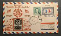 1943 Dayton Ohio Crosby Cachet WWII Patriotic Cover to Portland Maine