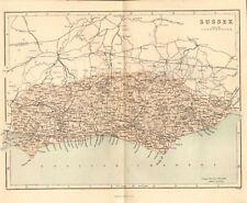 original 1868 colour map of sussex