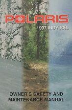1997 POLARIS SNOWMOBILE INDY RXL OWNER/MAINTENANCE 9913851 (695)