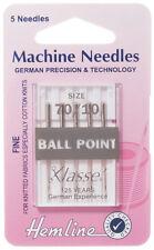 Size 70/10 Sewing Machine Needle - Klasse Ball Point Needles Fine - Pack 5