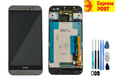 NEW OEM HTC ONE M9 LCD DISPLAY+TOUCH SCREEN DIGITIZER GLASS FRAME ASSEMBLY GREY