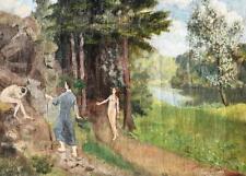 Erich Hartmann 1886-1974 Hamburgo/tem pinturas para 1906/Paraíso-expulsión