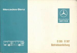 BUS  MERCEDES O 305 O 307 Betriebsanleitung 1980 Bedienungsanleitung 307 BA