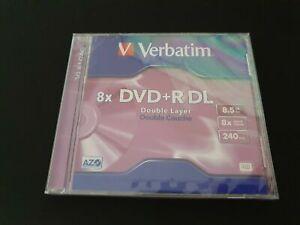 Verbatim DVD+R DL 8.5GB 8X AZO Life Series 4 pk with Jewel Case New