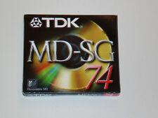 *NEW* Minidisc TDK SG MD-74 min (brand new sealed) MiniDisc Sony Mini DIsc