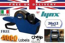 NEW LYNX LITE BLUE PRICE GUN PRICING LABELLER KIT INCLUDING 4000 PRICING LABEL