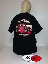 So-Cal t-shirt 1932 5 window BLACK size XXL rear print hot rod 32 ford chev