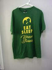 Eat Sleep Korean Drama K-Pop T-Shirt Size XL