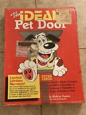 "Ideal Pet Products ""Extra Large Pet Door"" Made of impact resistant ABS, 15X20"""