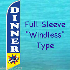 DINNER SPECIAL WINDLESS FEATHER FLAG Swooper Flutter Bow Banner Advertising Sign
