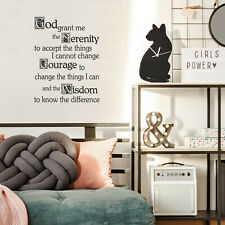 Vinyl Wall Art Decal - God Grant Me The Serenity Prayer - 22* x 30*