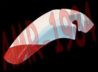 GUARDABARROS DELANTERO APRILIA TUAREG WIND 350 87 PINTADO ROJO BLANCO AP8126114