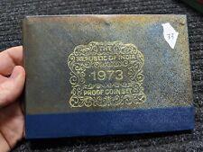 Rare 1973 Republic of India Proof 10-Coin Set w/ Original Mint Box -  #33