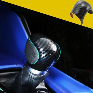 Carbon Fiber Inner Gear Lever Shift Knob Cover Trim For Toyota C-HR CHR 2016-18
