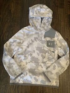Under Armour Boys (youth Small) Hooded Sweatshirt White NWT