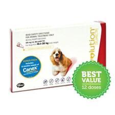 Revolution Flea Control for Dogs 10.1-20kg Red 6 pk Bonus Canex All Wormer