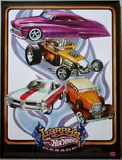 Hot Wheels 2009 RLC HWC Larry's Garage Poster Red Line Club 24 x 18 Orange Track