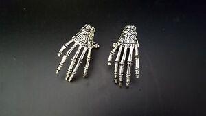 Skeleton Hands Pair of Cufflinks,Tie Slide or Set weddings birthday men ch120