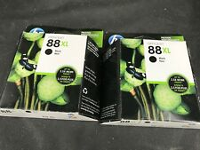 Lot Of 2 HP Officejet 88XL BLACK Ink Cartridges - Free Shipping!