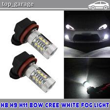 2x H8 H9 H11 80W CREE White LED Daytime Running Fog Light Low Beam For Chevrolet