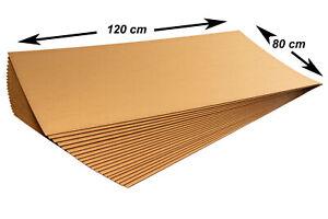 10x Kartonplatte 1200x800 mm Palettenzwischenlage Wellpappe Zuschnitt f Palette