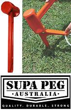 SUPA PEG Tent Peg Camping HAMMER PEG REMOVER Poly Polypropylene Heavy Duty