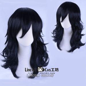 Anime My Hero Academia Akademia Shouta Aizawa 45cm Black Wavy Cosplay Hair Wig 1