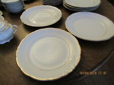 Walbrzych Empire White with gold Trim 7 12 Salad Plate made in Poland One