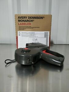 NEW Avery Dennison Monarch 1155 2-line Price Label Gun w/ Replacement Ink Roller