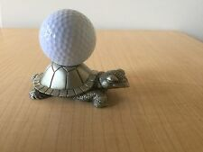 FORT USA GIFT PEWTER Turtle Golf Ball Paperweight