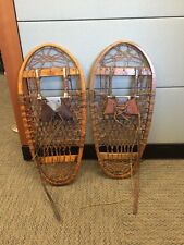 Vintage US C.A. Lund Bear Paw Snowshoes 1944 13x28 Hastings, MINN RARE