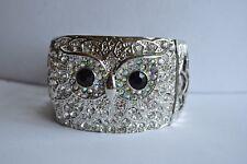 Tone Bracelet Last One Kirks Folly Owl Face Silver