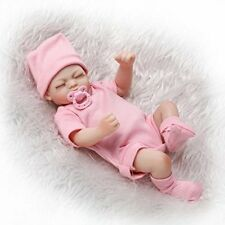 "10"" Mini Full Body Silicone Vinyl Reborn Doll Lifelike Baby Girl Dolls W/Dummy"