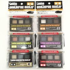 TAMIYA Weathering Master for Models All 6 Set (A,B,C,D,E,F) New Made in Japan