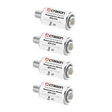 4 x Octagon Überspannungsschutz Blitzschutz Sat Kabel DVB-T Überspannung Schutz