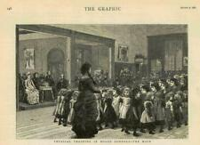 1881 - Antique Print SCHOOL Board Physical Training The Maze Girls  (244A)