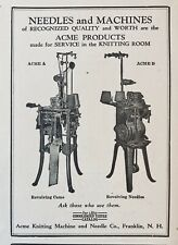 1931 AD(L8)~ACME KNITTING AND NEEDLE CO. FRANKLIN, NH. TEXTILE MILL MACHINERY
